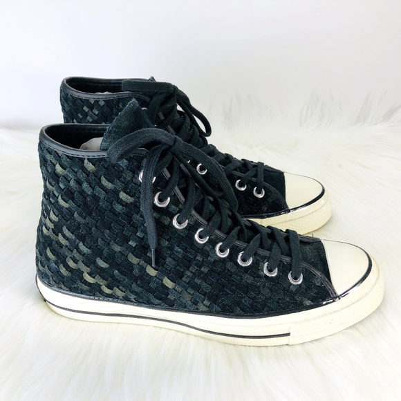 7d48d5bf1d012 Converse ALL STAR Chuck Taylor Blk Leather Weave